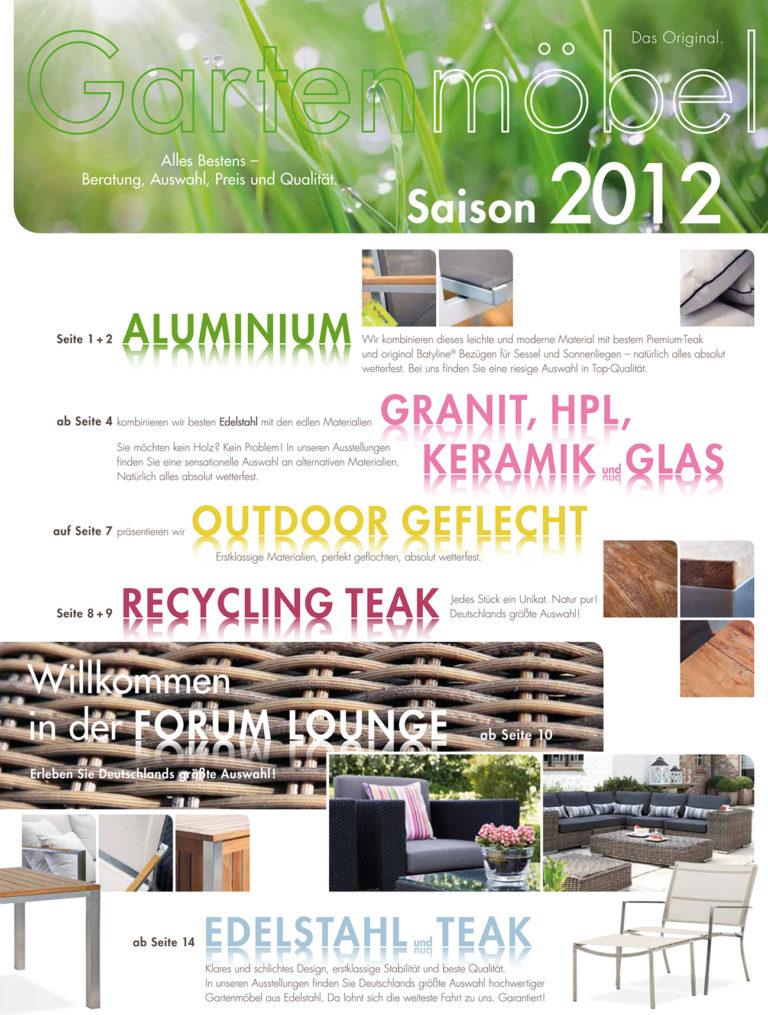 Forum Gartenmöbelprospekt 2012