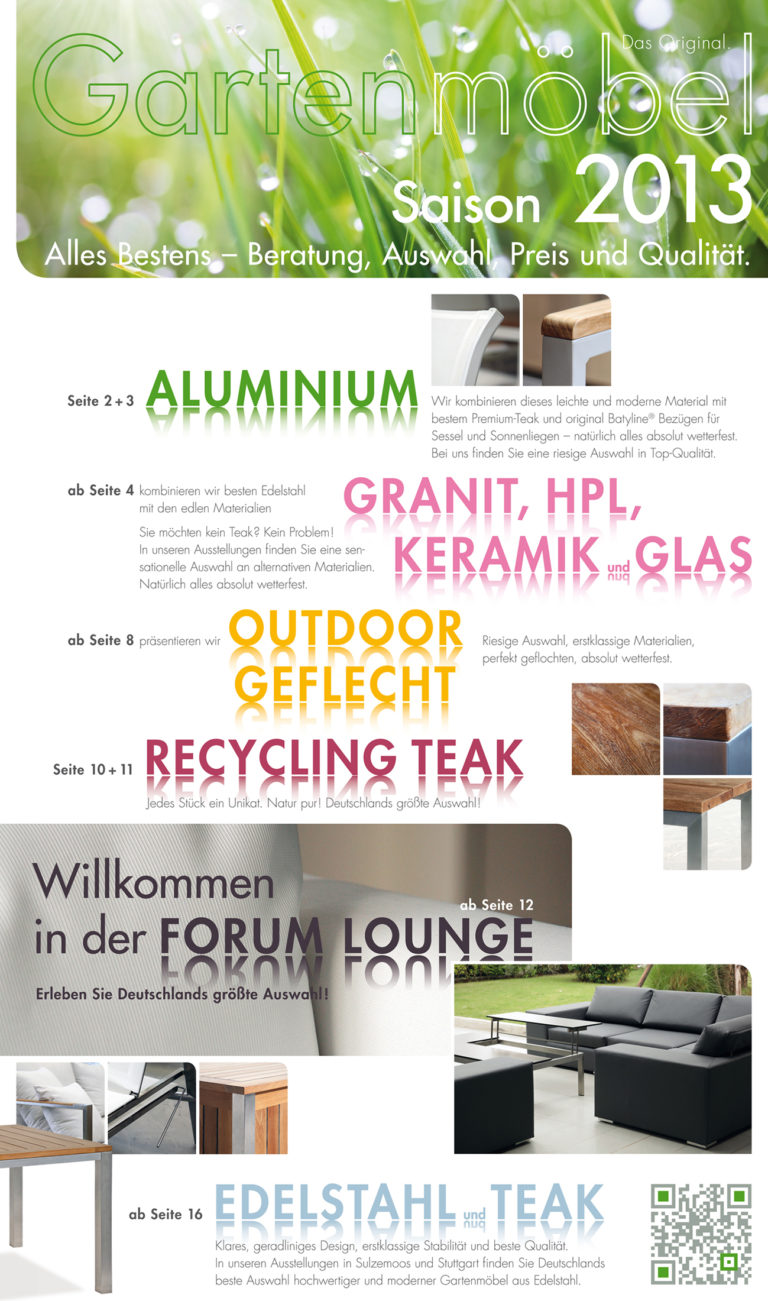 Forum Gartenmöbelprospekt 2013