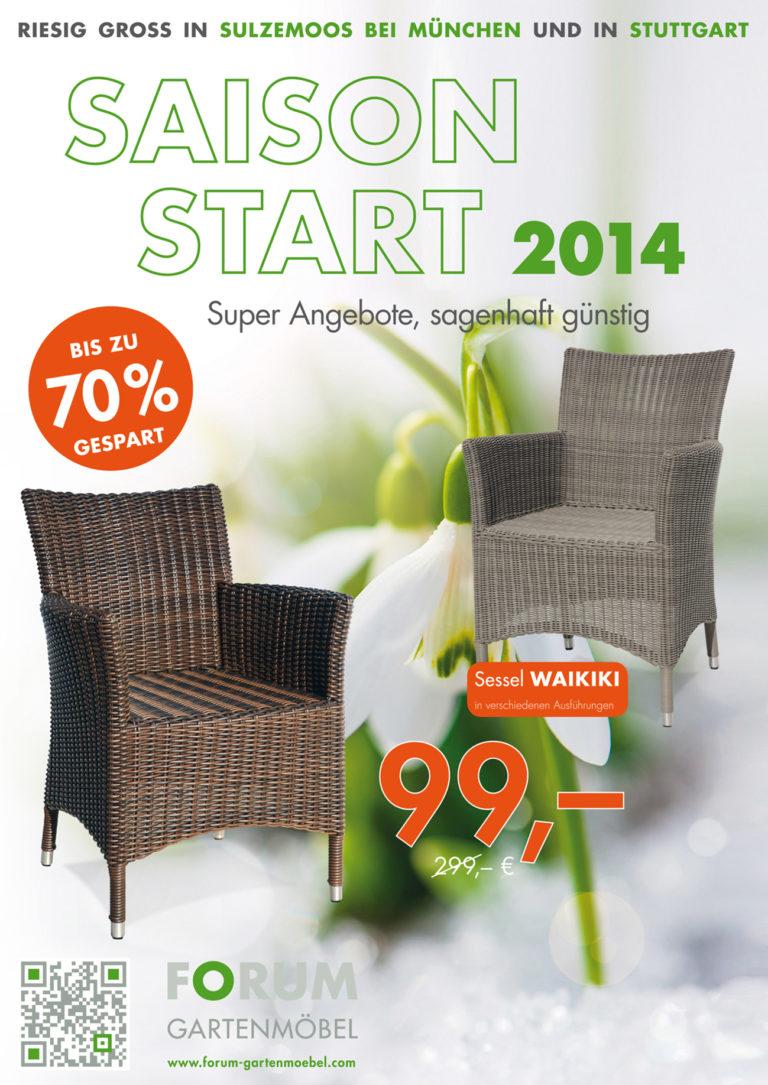 Forum Gartenmöbelprospekt zur Saisoneröffnung 2014