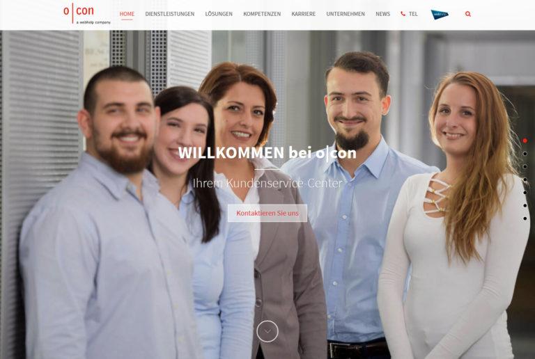 o|con Webseite